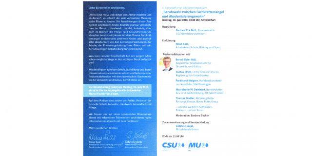 CSU Symposium mit Ferdinand Weipert